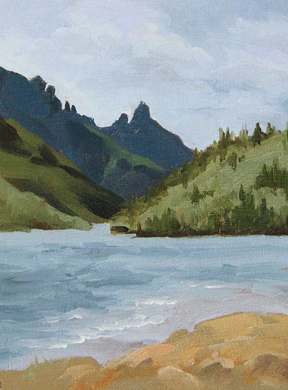 © Bev Mazurick - Upper Waterton Lake - Stoney Indian Peaks