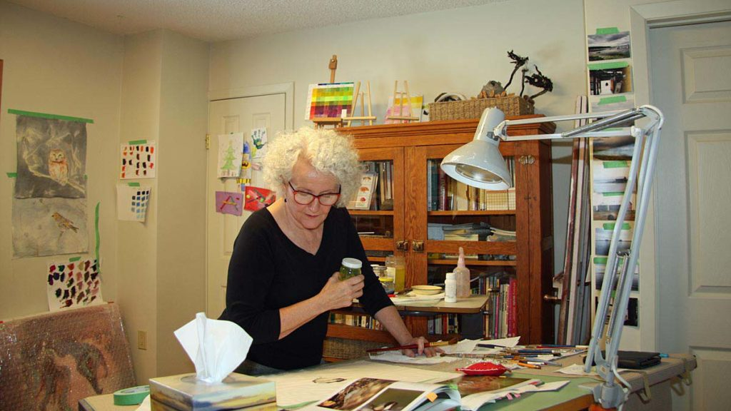 Photograph of Bev Mazurick in Studio