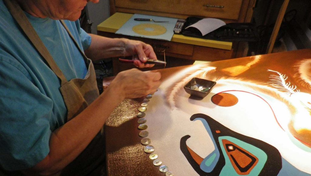 © Bev Mazurick - Stitching Agoya Buttons