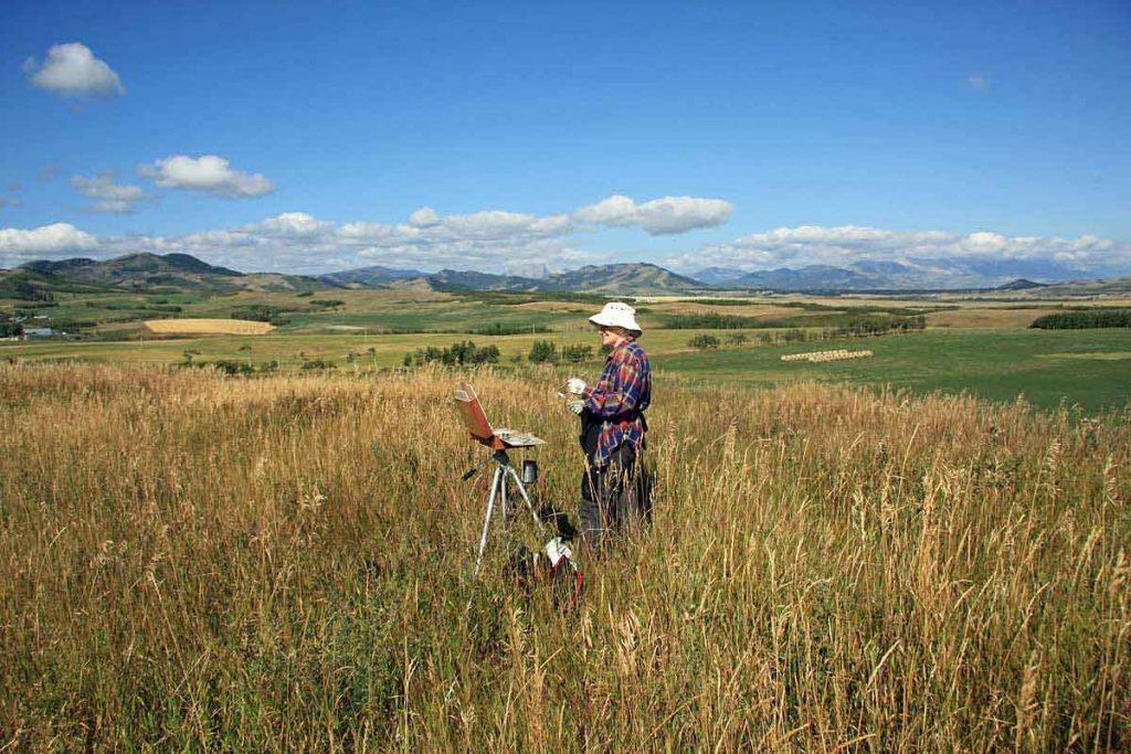 Plein Air Painting Alberta Foothills