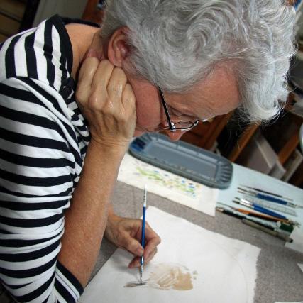 Bev Mazurick fabric painting
